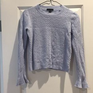 J Crew Blue Bell Sleeve Cable Knit Sweater S